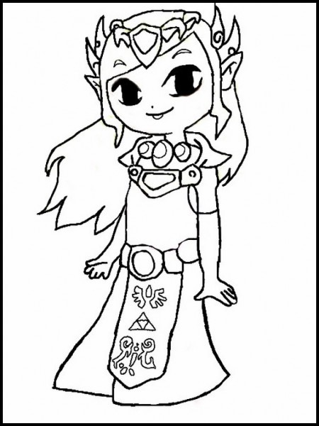 Dibujos Para Colorear Para Niños Zelda 1