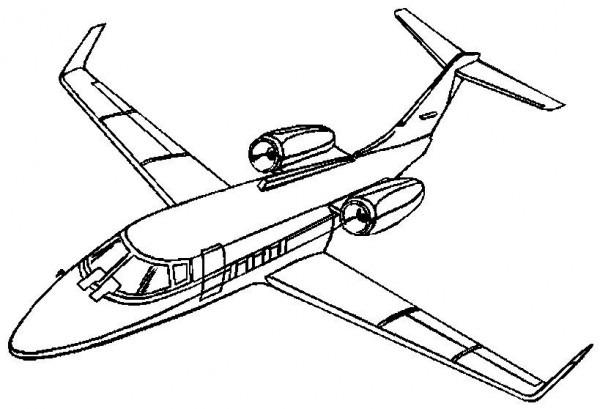 Dibujos Para Colorear Avion Comercial