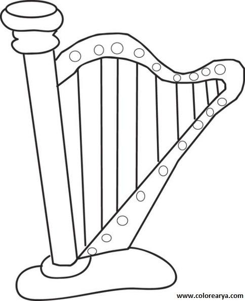 √ Dibujos Instrumentos Musicales Para Colorear Con Nombres
