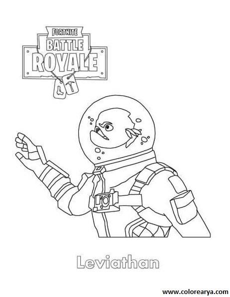 Dibujos Para Colorear De Fortnite Battle Royale