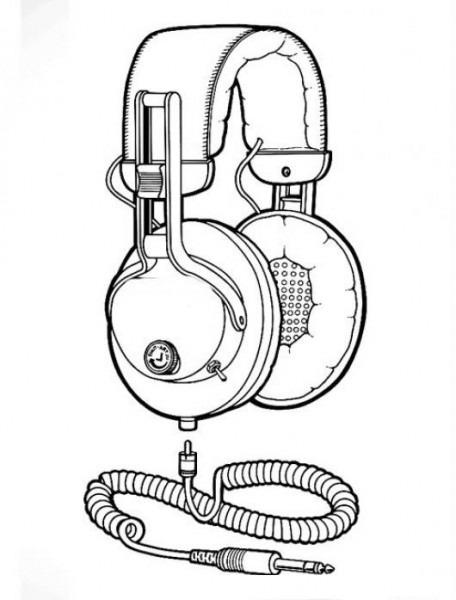 Audifonos Profesionales Para Colorear