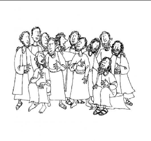 12 Discipulos Dibuju De Los Doce Discipulos De Jesus Para Pintar Y