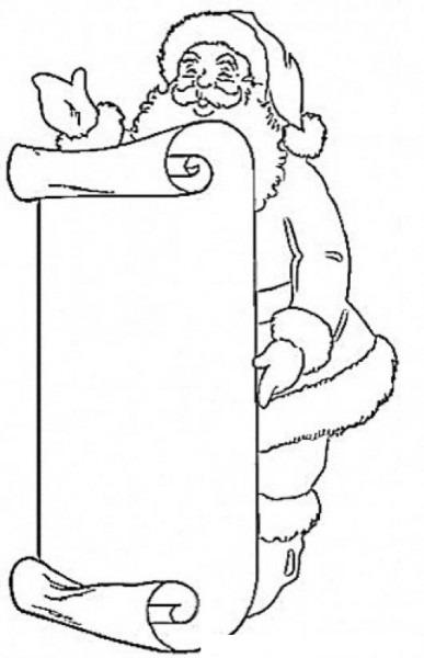 Lista De Regalos De Santa Claus Para Pintar Y Colorear La Gran