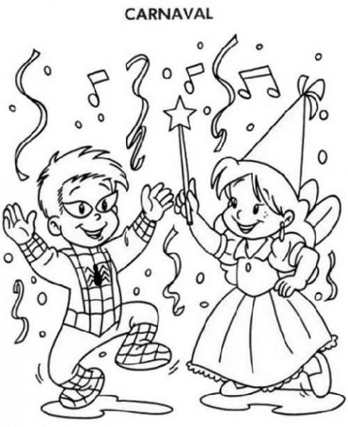 Dibujo Baile De Disfraces Carnaval