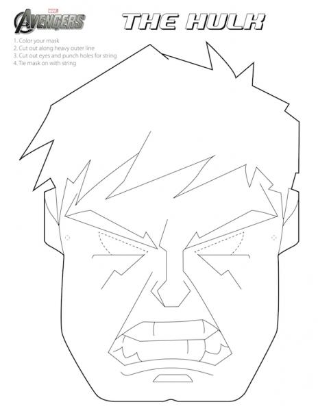 Vengadores  Máscaras Para Colorear Para Imprimir Gratis