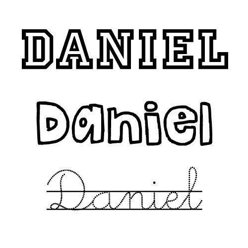 Dibujos Para Colorear Del Nombre Para Niños Daniel