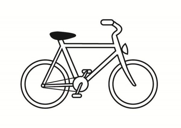 Dibujo Para Colorear Bicicleta