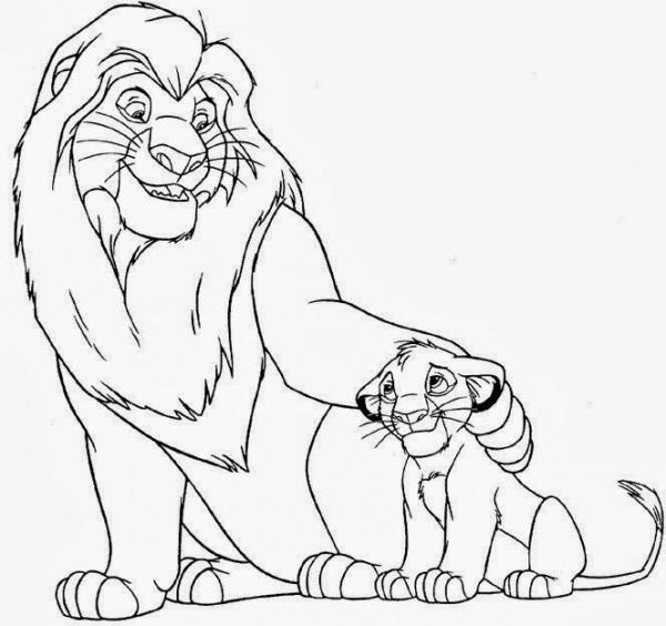 Cuentos Infantiles  El Rey León Para Colorear  Dibujos Para Imprimir