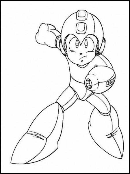 Dibujos Para Pintar Para Niños Mega Man 2