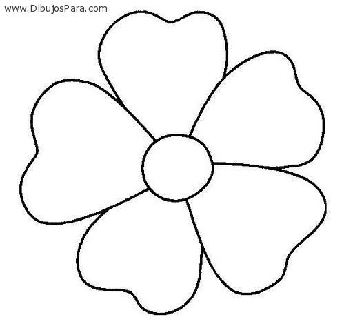 Dibujo De Flor De Cinco Petalos