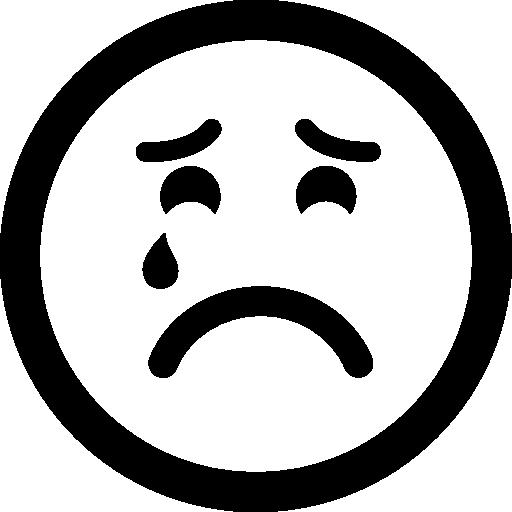 Triste Sufrimiento Llorando Emoticon Cara