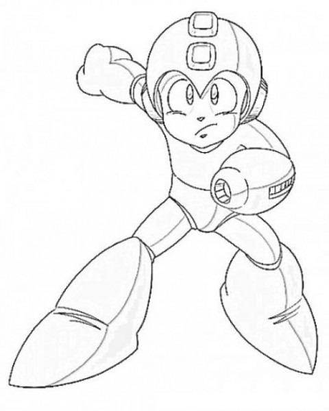 Dibujo De Megaman Para Colorear Y Pintar