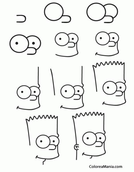 Colorear Cómo Dibujar A Bart Simpson (cómo Dibujar Personajes