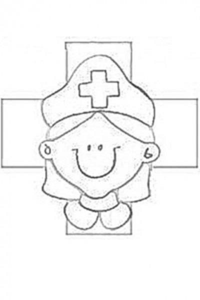 Enfermerita De La Cruz Roja Para Colorear