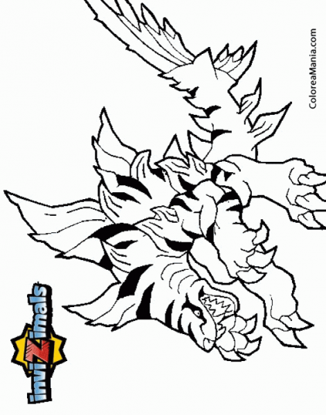 √ Colorear Tiger Shark (invizimals), Dibujo Para Colorear Gratis