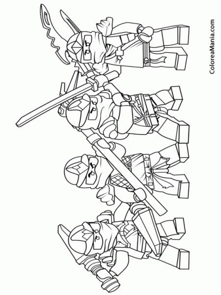 Colorear Lego Ninjago 5 (ninjago), Dibujo Para Colorear Gratis