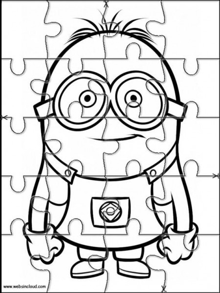 Printable Jigsaw Puzzles To Cut Out For Kids Minions 8