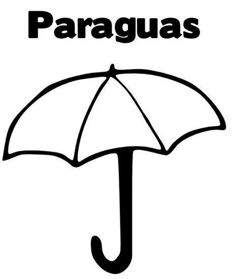 Dibujos De Paraguas Para Colorear E Imprimir