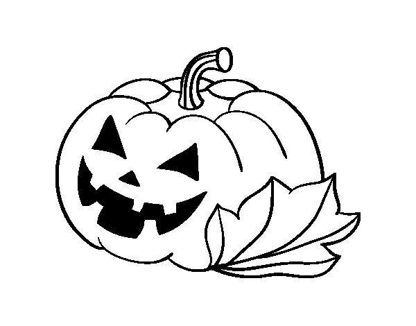 Dibujo De Calabaza Decorada De Halloween Para Colorear