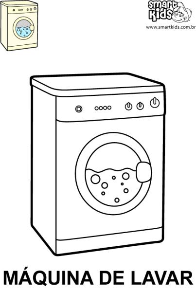 Dibujos Para Colorear De Lavadoras Lavadora De Blanco Y