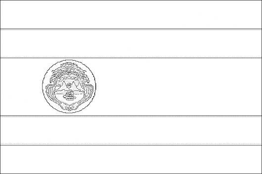 Colorear Bandera De Costa Rica