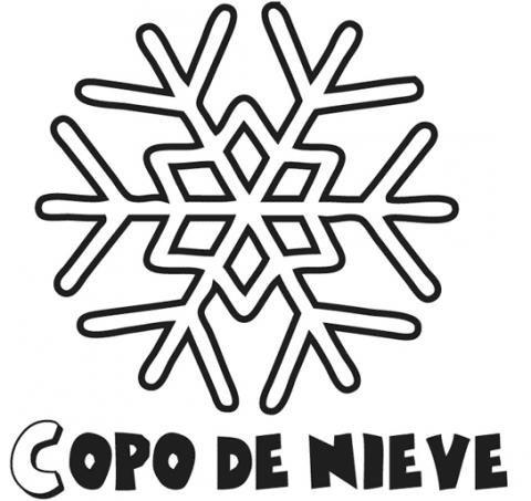 Dibujos De Copo De Nieve De Navidad Para Colorear Con Niños