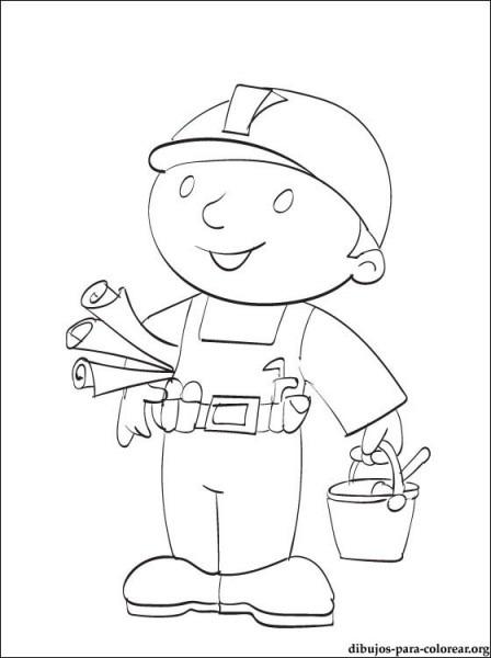 Dibujo Bob El Constructor Este Dispuesto A Trabajar