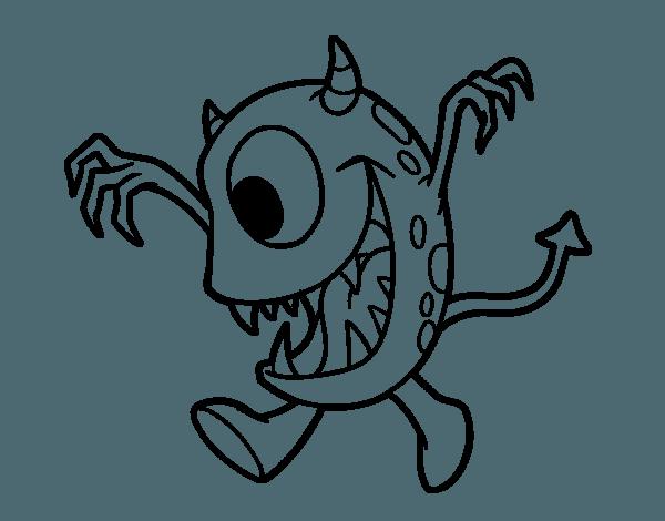 Dibujos De Monstruo Con Un Ojo Para Colorear