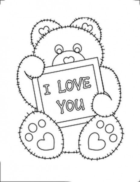 Valentine Hearts Coloring Sheet S