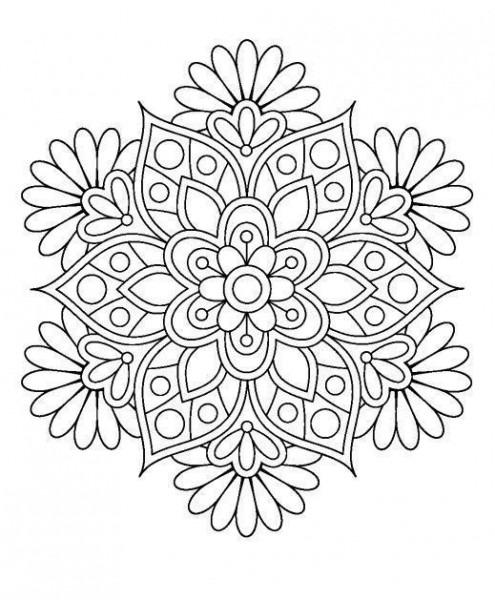Dibujos De Mandalas Para Colorear (fáciles Y Difíciles) Para Niños