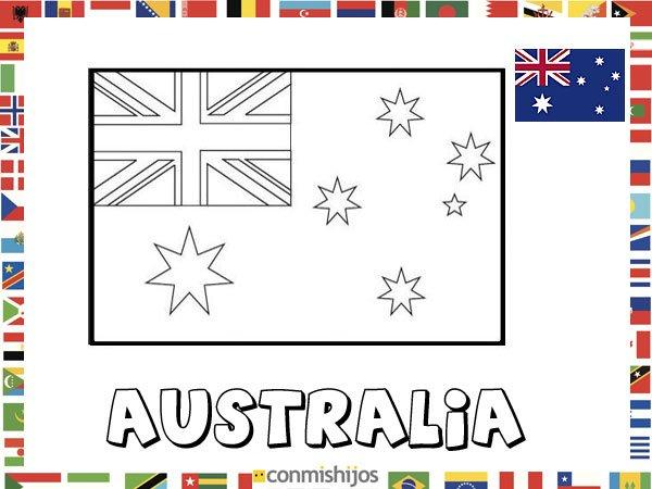 Bandera De Australia  Dibujos De Banderas Para Pintar