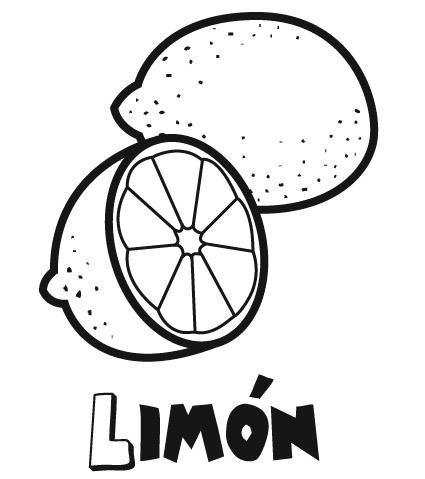 Dibujo De Limón Para Colorear  Dibujos Infantiles De Frutas