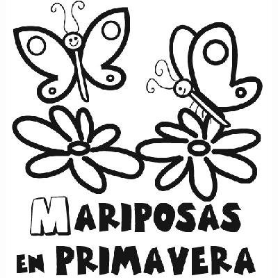 Dibujos Para Colorear Y Pintar Con Mariposas En Primavera