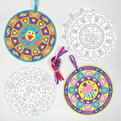 Decoraciones Creativas De Mandala Para Colorear Y Colgar
