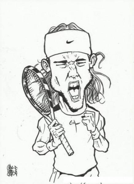 Dibujo Del Tenista Nadal Para Pintar Y Colorear