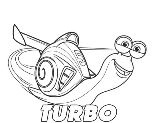 Dibujos Disney Para Colorear Turbo