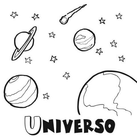 Dibujos Para Colorear Del Universo  Imágenes Gratis