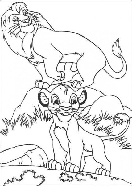 Dibujos Para Colorear El Rey Leon 7