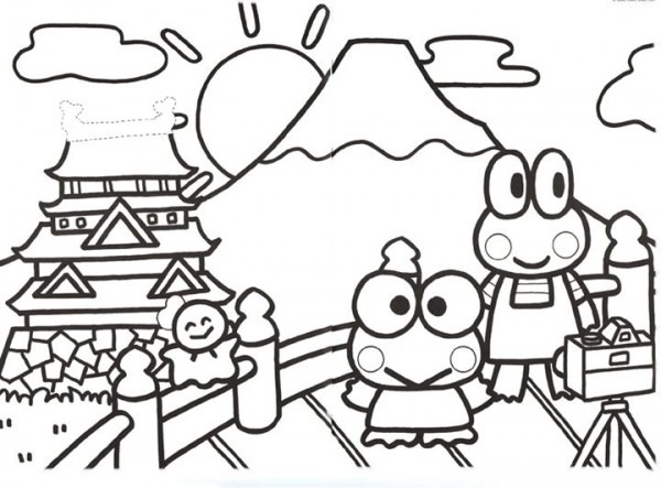 Keroppi Coloring Pages Martin Video
