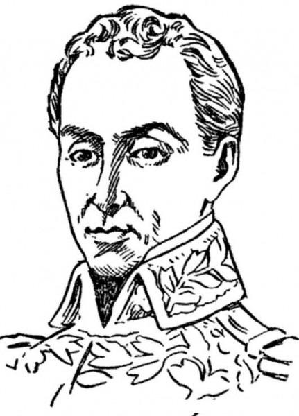 Dibujo De Simon Bolivar Para Pintar Y Colorear