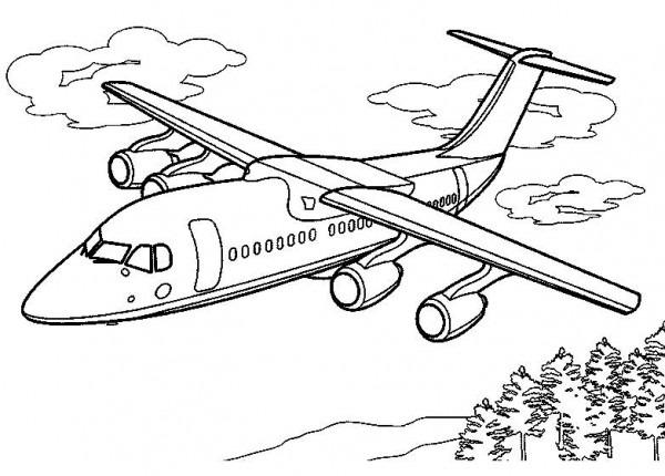 Dibujos De Aviones Para Colorear, Dibujos Para Imprimir Y Colorear