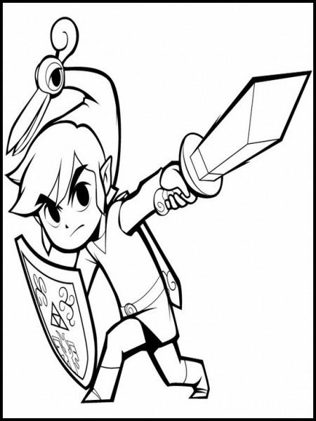 Zelda Dibujos Para Colorear Para Niños 7