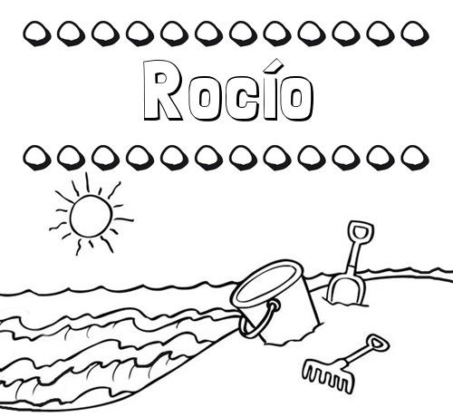 Nombre Rocío  Nombres En La Playa  Dibujos Para Colorear