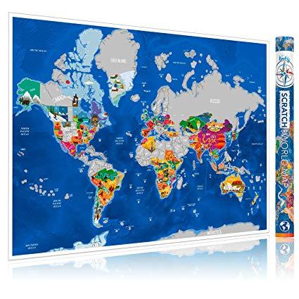 Enfy Mapa Del Mundo Para Rascar De Viajes