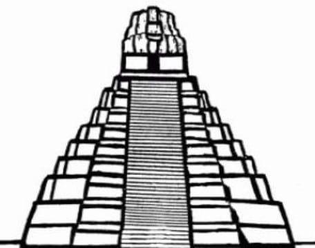 Dibujos De Piramides Mayas Para Colorear