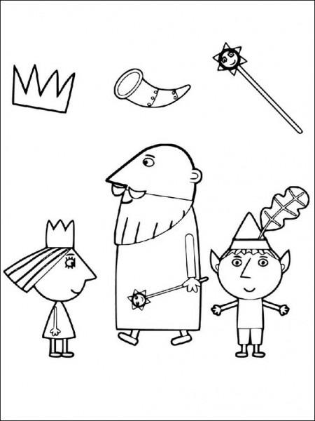 Imprimir Dibujos Para Colorear El Pequeño Reino De Ben Y Holly 8