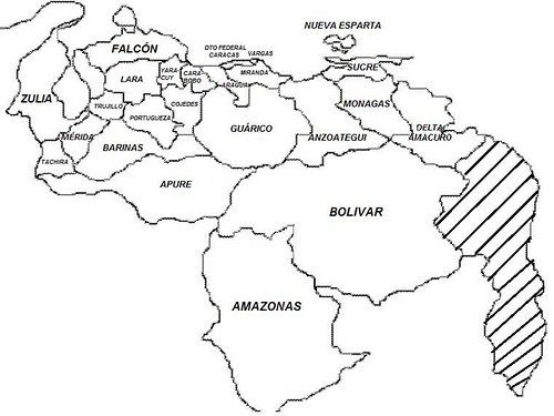 Dibujos Del Mapa De Venezuela Para Colorear  Imágenes Del Mapa