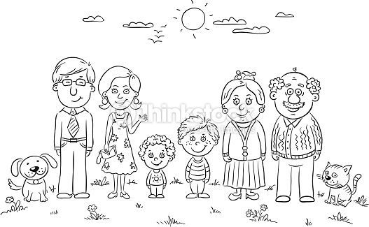 Miembros De Familia En Ingles Para Colorear