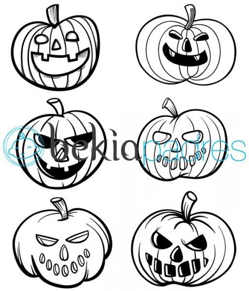 Calabazas De Halloween  Dibujo Para Colorear