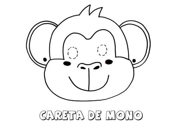 Careta De Mono  Dibujos Para Colorear Con Los Niños